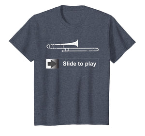 Slide To Play Trombone T shirt Funny marching band gift