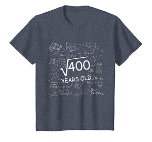 Square root of 400 Math Calculation School 20 years old T-Shirt