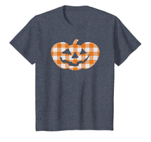 Charger l'image dans la galerie, Plaid Jack-O-Lantern Pumpkin Country Farmhouse Style T-Shirt