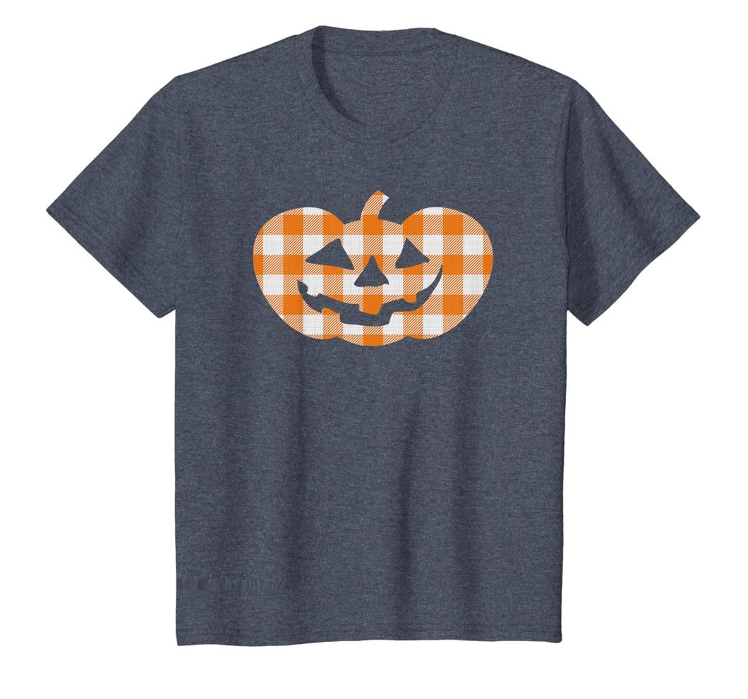 Plaid Jack-O-Lantern Pumpkin Country Farmhouse Style T-Shirt