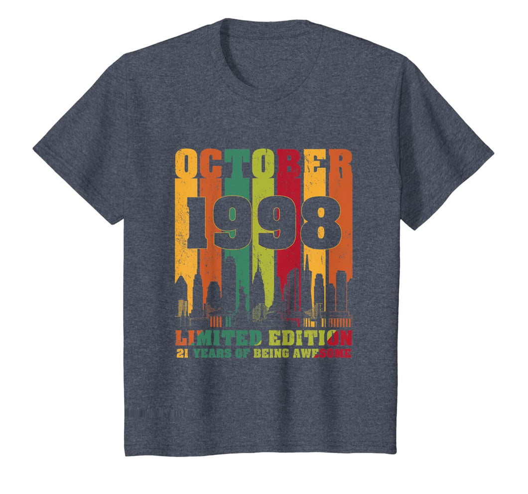 October 1998 21st Birthday Shirts 21 Years old Bday T-Shirt T-Shirt