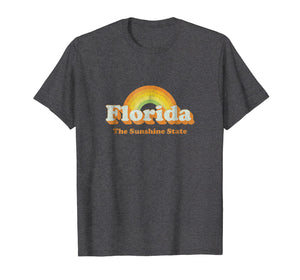 Retro Florida T Shirt Vintage 70s Rainbow Tee Design
