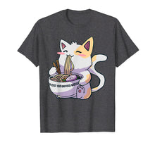 Charger l'image dans la galerie, Ramen T-Shirt Cat Tshirt Kawaii Anime Tee Japanese Gift