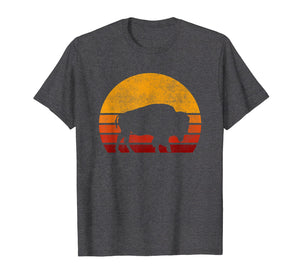 Retro Buffalo Bison 70s 80s Style Sunset Vintage Shirt