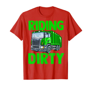 Recycling Trash Garbage Truck T Shirt Kids Men Riding Dirty T-Shirt