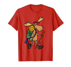 Funny shirts V-neck Tank top Hoodie sweatshirt usa uk au ca gifts for Smiletodaytees Funny Moose Hiking T-shirt 2001930