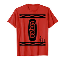 Charger l'image dans la galerie, Red Crayon Box Halloween Costume Matching Couple Group T-Shirt