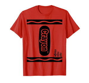 Red Crayon Box Halloween Costume Matching Couple Group T-Shirt