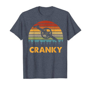 Retro Vintage Gift For Cycling Lovers Bicycle Cranky T-Shirt