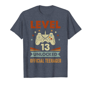 Official Teenager 13th Birthday T-Shirt Level 13 Unlocked