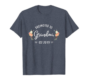 Promoted to Grandma Est 2019 Mothers Day New Grandma T-Shirt