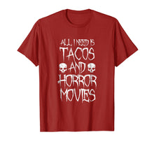 Charger l'image dans la galerie, Funny shirts V-neck Tank top Hoodie sweatshirt usa uk au ca gifts for All I Need Is Tacos and Horror Movies Shirt - Horror T-shirt 2256663