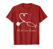 Charger l'image dans la galerie, Nurse Breast Cancer Awareness Pink Ribbon Stethoscope Heart T-Shirt