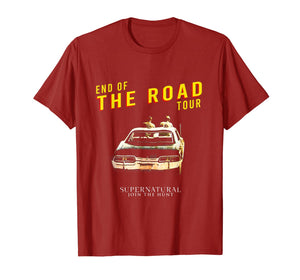 Supernatural 2019 World Tour End The Road T-Shirt