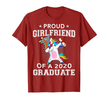 Charger l'image dans la galerie, Proud Girlfriend Of A 2020 Graduate Unicorn Dabbing Gift T-Shirt