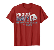 Charger l'image dans la galerie, Proud Navy Mom My Son My Sailor My Hero Shirt Military Mom T-Shirt