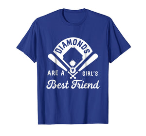 Funny shirts V-neck Tank top Hoodie sweatshirt usa uk au ca gifts for Diamonds Are A Girl's Best Friend Shirt Baseball Softball 1570814