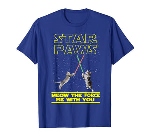 Funny shirts V-neck Tank top Hoodie sweatshirt usa uk au ca gifts for Star Paws Meow Shirt Funny Gifts For Cats Lovers T-Shirt 3077699