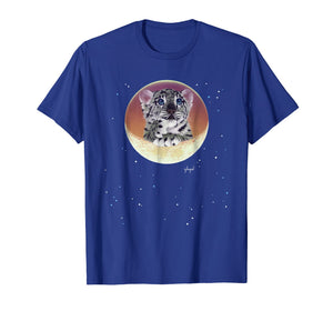 Schim Schimmel original artwork, baby snow leopard T-shirt