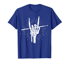 Charger l'image dans la galerie, Skeleton Hand Rock Drum Sticks Halloween Costume For Drummer T-Shirt