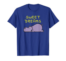 Charger l'image dans la galerie, Sweet Dreams Sleeping Hippo Quote Pajamas for Bedtime T-Shirt