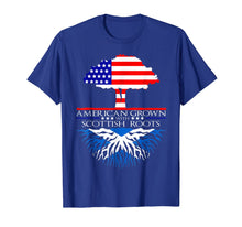 Charger l'image dans la galerie, Scottish Roots American Grown Tree Flag USA Scotland T-Shirt