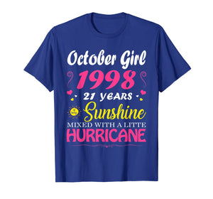 October Girl 1998 TShirt 21st Birthday Gift 21 Years Old T-Shirt