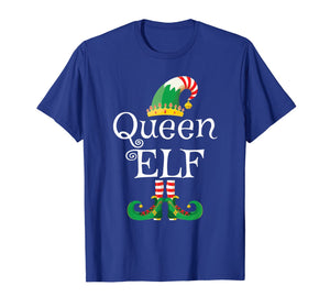 Queen Elf Shirt Women Funny Family Matching Elf Christmas T-Shirt