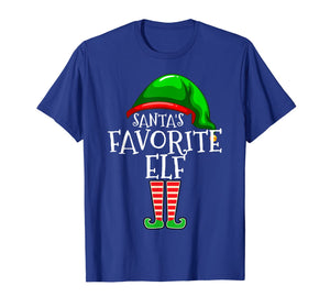 Santa's Favorite Elf Group Matching Family Christmas Gift T-Shirt