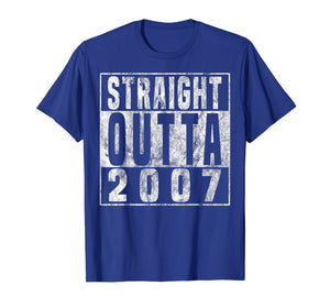 Straight Outta 2007 12th Birthday Gift T-Shirt 12 years old