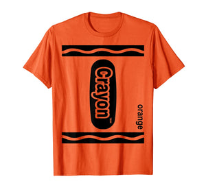 Orange Crayon Box Halloween Costume Matching Couple Group T-Shirt