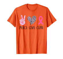 Charger l'image dans la galerie, Peace Love Cure Pink Ribbon Breast Cancer Awareness Gifts T-Shirt