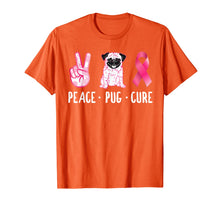 Charger l'image dans la galerie, Peace Cure Pug Breast Cancer Awareness Gifts T-Shirt