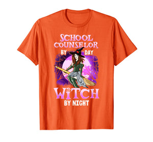 School Counselor Halloween Witch College Counselors Costume T-Shirt