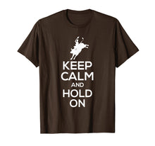 Charger l'image dans la galerie, Funny shirts V-neck Tank top Hoodie sweatshirt usa uk au ca gifts for Bull Rider T-Shirt - Keep Calm And Hold On 1380710