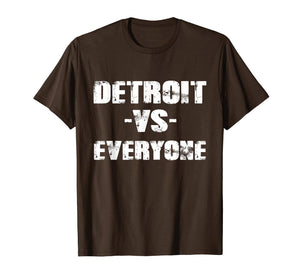 Funny shirts V-neck Tank top Hoodie sweatshirt usa uk au ca gifts for Detroit vs Everyone Vintage Distressed 2018 T-Shirt 2097367