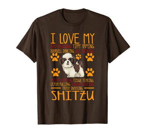 Funny shirts V-neck Tank top Hoodie sweatshirt usa uk au ca gifts for I Love My Shitzu T shirt Gift For Dog Lover Shirt 1552155