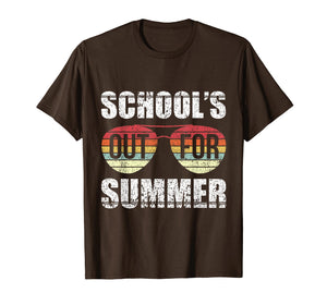 Retro Last Day Of School Schools Out For Summer Teacher Gift T-Shirt