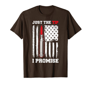 Funny shirts V-neck Tank top Hoodie sweatshirt usa uk au ca gifts for Veteran Us Flag Just The Tip I Promise T Shirts 1457539