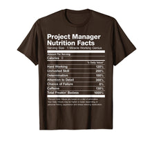 Charger l'image dans la galerie, Project Manager Nutrition Facts Name Funny T-Shirt
