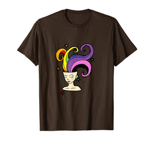 Rainbow Girl - Free Your Imagination Dream Fantasy T-Shirt