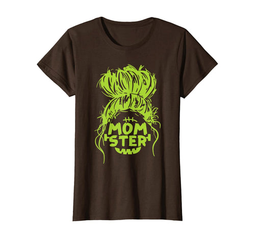332063 Womens Momster Funny Spooky Halloween Costume Kids Gifts For Mom T-Shirt B08KR8WV9B