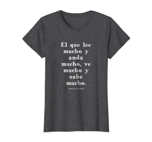 Funny shirts V-neck Tank top Hoodie sweatshirt usa uk au ca gifts for Speak More Spanish Quixote Quote T Shirt 1323581