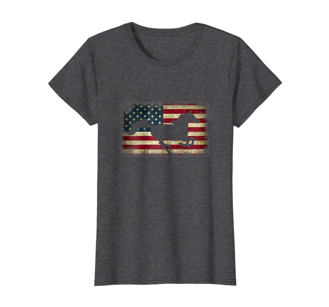 Funny shirts V-neck Tank top Hoodie sweatshirt usa uk au ca gifts for Patriotic American Flag Horse Lover Racing Riding T-shirt 1000049