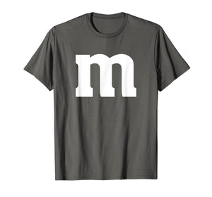 Simple Minimal Matching Group Lowercase Letter M Apparel T-Shirt
