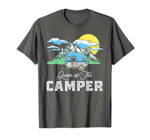Queen of the Camper Retro RV Camping Funny Graphic T-Shirt