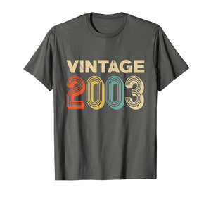 Retro Vintage 2003 Shirt 16th Birthday Gift Ideas Girls Boys