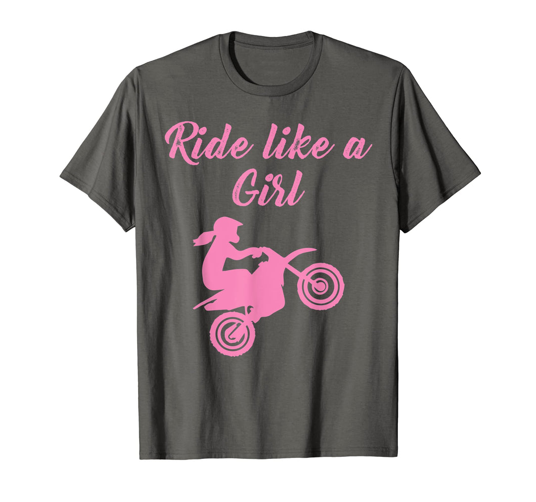 Funny shirts V-neck Tank top Hoodie sweatshirt usa uk au ca gifts for Ride Like A Girl Dirt Bike Motocross Braap T-Shirt 1381238