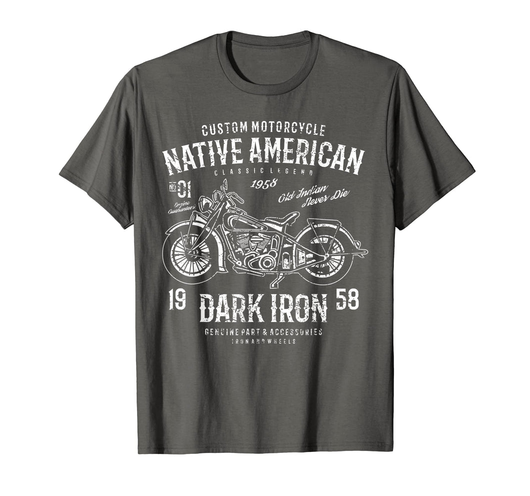 Funny shirts V-neck Tank top Hoodie sweatshirt usa uk au ca gifts for Retro  Vintage Native American Distressed Motorcycle Design 2243654