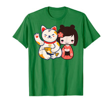 Charger l'image dans la galerie, Funny shirts V-neck Tank top Hoodie sweatshirt usa uk au ca gifts for Maneki Neko Lucky Beckoning Cat with cute girl t-shirt 1047449